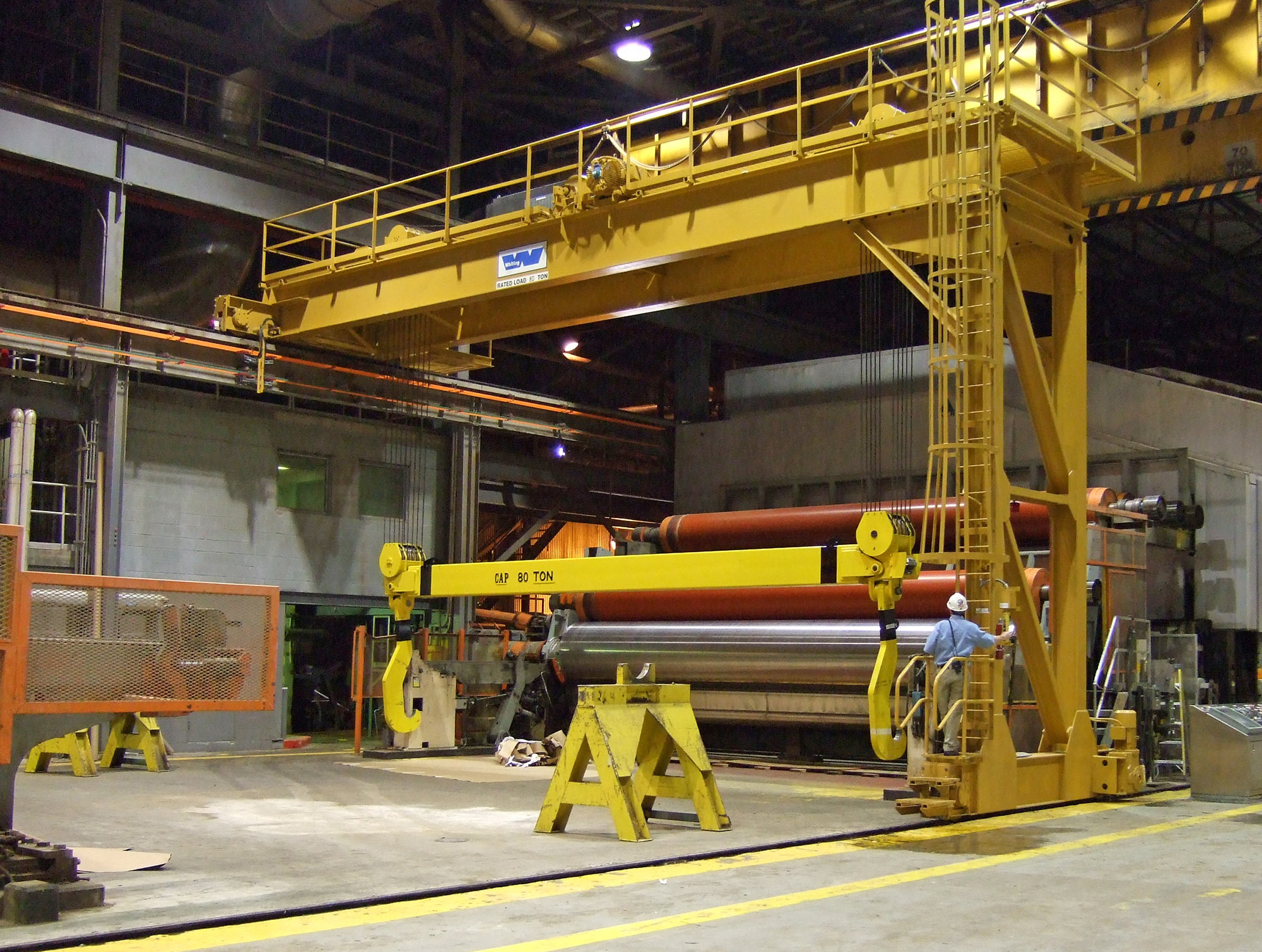 Reel Handling Overhead Cranes Whiting Corporation