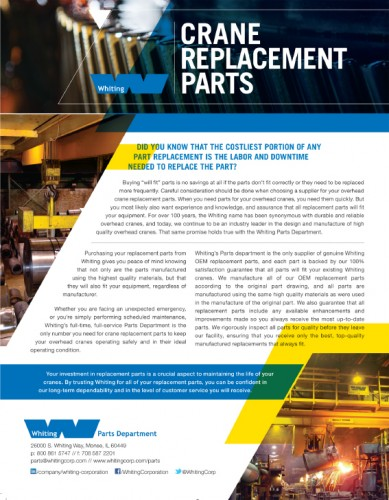 Whiting Crane Replacement Parts-1